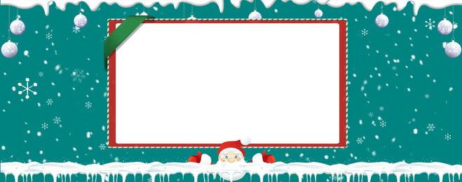 Christmas Santa Claus Green Lovely, Simple, Cartoon, Snowflake, Background image