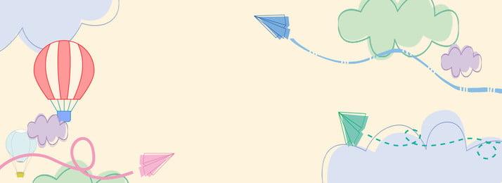 छड़ी आंकड़ा छोटे हवाई जहाज गर्म हवा के गुब्बारे की बैनर पृष्ठभूमि बादल कागज का विमान गर्म, आंकड़ा, आकाश, सरल पृष्ठभूमि छवि