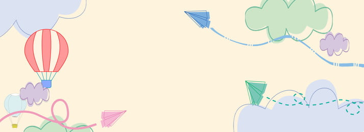 cloud paper plane hot air balloon cloud, Stick Figure, Sky, Simple Background image