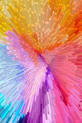 Gradient đầy màu sắc trừu tượng 3D nền xi lanh Đầy màu sắc Độ Sắc Độ Phích Hình Nền