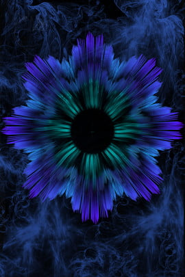 colorful technology texture 3d effect , Flower, Black, Poster Background image