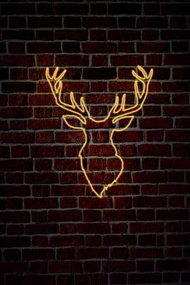 クールなネオンバーの背景イラスト かっこいい ネオン 鹿頭ネオン バーの背景 ポスターの背景 一般的なシェーディング 一般目的 ナイトクラブスタイル バーネオン かっこいい ネオン 鹿頭ネオン 背景画像