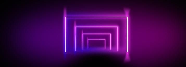 Cool Neon Illuminated Lines Black Background, Personality, Fashion, Sense Of Space, Background image