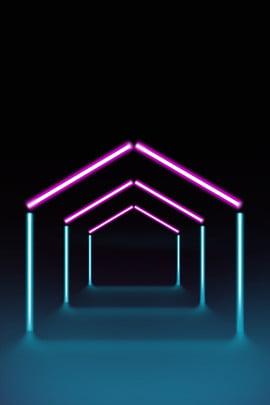 hình học rắn rắn neon phát sáng dòng poster nền tuyệt neon Đường chiếu sáng ba , đèn, Thời, Sáng Ảnh nền