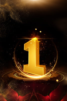 countdown black gold background golden number number 1 black background , Gold Powder, Line, Flower Background image