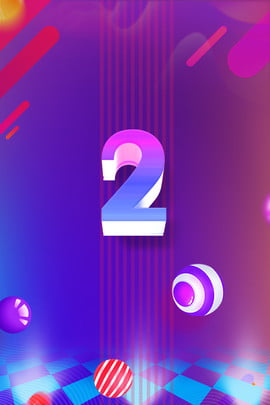 countdown blue purple background countdown number float , Colorful, Gradient, Countdown Number 2 Background image