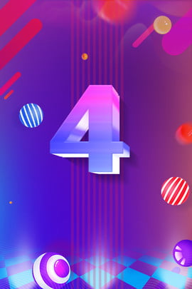 countdown blue purple background countdown number float , Colorful, Gradient, Countdown Number 4 Background image