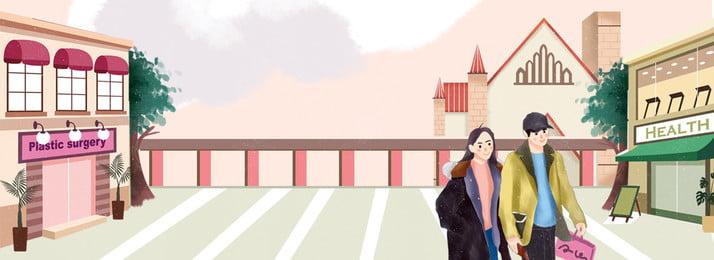 वाणिज्यिक सड़क चित्रण पवन पृष्ठभूमि खरीदने वाले युगल प्रेमी आतंक खरीद शॉपिंग मॉल सड़क कपड़ों, मॉल, सड़क, कपड़ों पृष्ठभूमि छवि