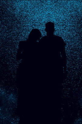 couple starry sky romantic silhouette , Charming, Love, Beautiful Background image