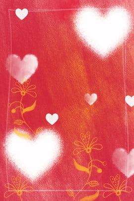 紅色愛心蠟筆紋理背景 蠟筆 蠟筆紋理 蠟筆繪畫 愛心 花朵 蠟筆劃 紅色卡通背景 , 蠟筆, 蠟筆紋理, 蠟筆繪畫 背景圖片