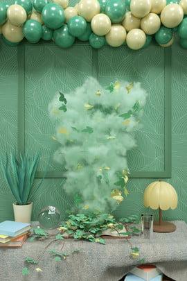 हल्के हरे रंग के धुएं के साथ हरी पृष्ठभूमि क्रिएटिव धुआं प्रदान करना स्थल c4d , के, तीन, धुंआ पृष्ठभूमि छवि
