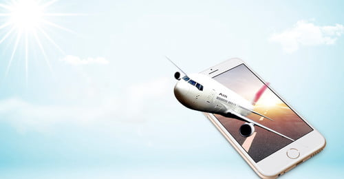 मोबाइल फोन रचनात्मक सिंथेटिक हवाई जहाज का पोस्टर रचनात्मक संश्लेषण सरल मोबाइल फोन सफेद, रचनात्मक, बादल, सूरज पृष्ठभूमि छवि