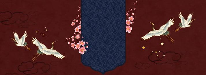 tổng hợp sáng tạo xiangyun phong cách trung quốc, Thời Cổ đại, Retro, Hạc Ảnh nền