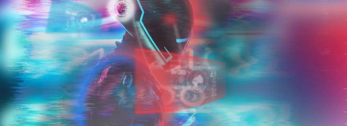 Tổng hợp phong cách trò chơi điện tử Điện tử Trò chơi Neon Độ Dốc Công Tạo Hình Nền
