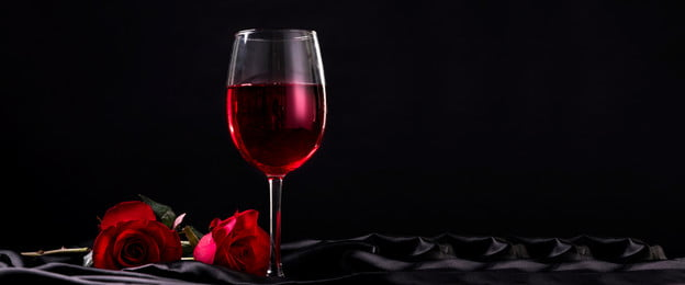 rượu vang đỏ rượu vang rượu vang cánh hoa thủy tinh, Lãng Mạn, Tập Tin Phân Cấp, Tập Tin Nguồn Psd Ảnh nền
