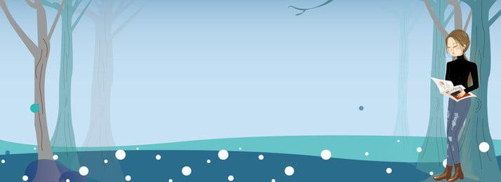 早春の服の新しい文学少女イラスト背景 早春 衣服 キャラクター 少女 ファッション shangxin スキンケア製品 イラストレーターのスタイル バナー, 早春の服の新しい文学少女イラスト背景, 早春, 衣服 背景画像