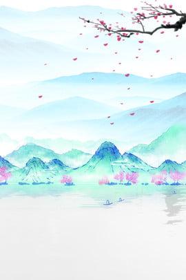 चीनी शैली हाथ चित्रित स्याही परिदृश्य पृष्ठभूमि शिष्ट प्राचीन शैली क्लासिक चीनी शैली पारंपरिक , चीनी शैली हाथ चित्रित स्याही परिदृश्य पृष्ठभूमि, चीन, स्याही पृष्ठभूमि छवि