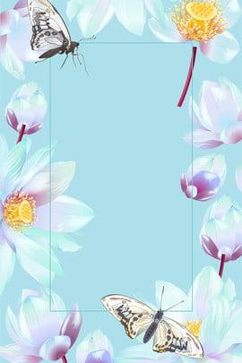 Elegant Hand Painted Fresh Elegant, Flower, Flowers, Plant, Background image