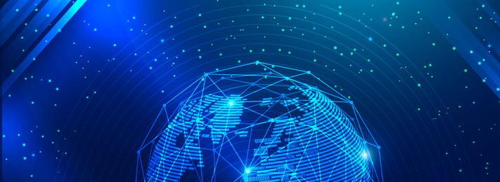 스프린트 파란색 기술 라인 지구 배너 포스터의 끝 연말 스프린트 블루 단순한 사업 사업 사무실 기술 선 지구 조명 효과, 스프린트 파란색 기술 라인 지구 배너 포스터의 끝, 연말, 스프린트 배경 이미지