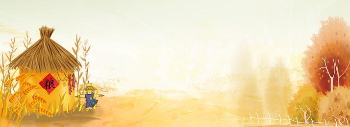 創意合成秋天背景 秋天 落葉 銀杏 九月 小麥 豐收 卡通 簡約 合成, 秋天, 落葉, 銀杏 背景圖片