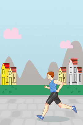 falling in the fall boy run morning run , Outdoor Sports, Fitness, Work Out Background image