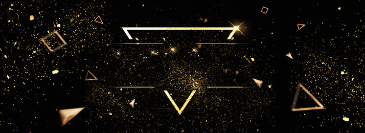 Fashion Atmosphere Black Gold Black Background, Geometric, Flicker, Floating Decoration, Background image