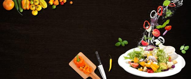 सलाद ओवरशूट बैकग्राउंड बैनर फूड अनदेखी भोजन की अनदेखी भोजन, की, हुई, भोजन पृष्ठभूमि छवि