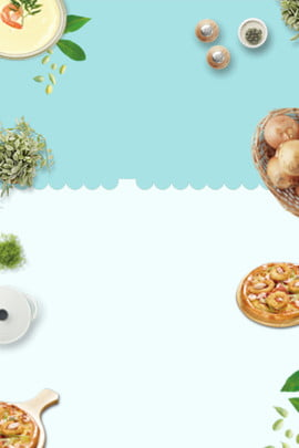 food western food breakfast pizza , Simple, Fresh, Poster Background Background image