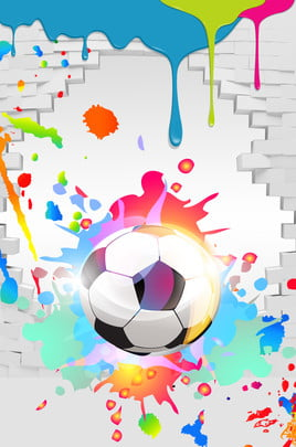 football splashing ink paint wall panel , World Cup, Ad, World Cup Background Background image