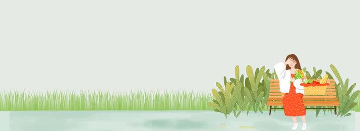 早春の新鮮な女の子旅行新しいイラスト背景の服 新鮮な 早春 衣服 少女 旅行する キャラクター shangxin イラストレーターのスタイル バナー, 新鮮な, 早春, 衣服 背景画像