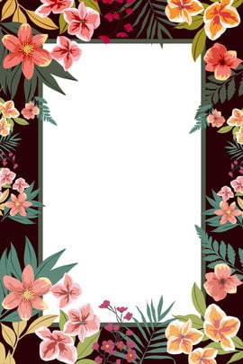 flores frescas flores pintadas a mano fondo decorativo borde acuarela fresco la flor dibujado a , Flores, Decoracion, Frontera Imagen de fondo
