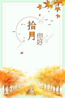 fresh gold gradient fall , Leaf, Tree, Landscape Background image