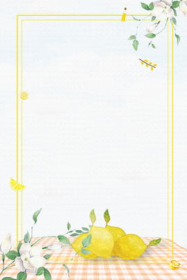 fresh lemon frame branches and leaves , Flower Branch, Tablecloth, Shading Background image