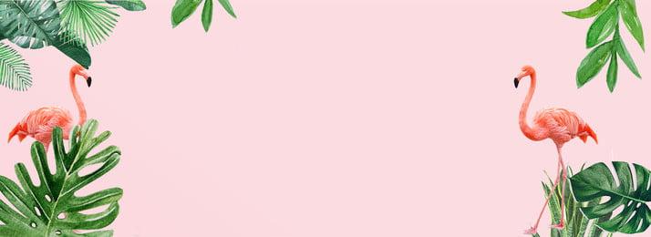 新鮮でシンプルなフラミンゴピンクのポスターの背景 新鮮な 純赤い風 ins フラミンゴポスター 単純な 新鮮な葉 手描きの葉, 新鮮でシンプルなフラミンゴピンクのポスターの背景, 新鮮な, 純赤い風 背景画像