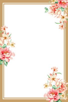 Pattern Flower Frame 背景画像