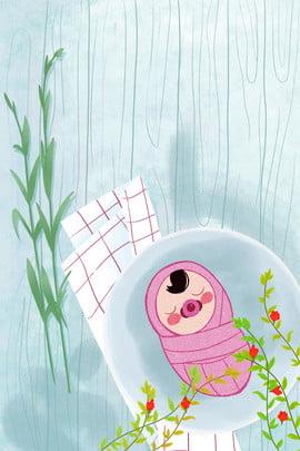手繪可愛夏天母嬰用品海報背景 清新 夏日 嬰兒 母愛 母親節海報 六一兒童節 手繪 嬰兒用品 海報 , 手繪可愛夏天母嬰用品海報背景, 清新, 夏日 背景圖片