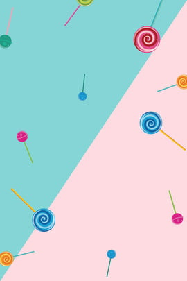 新鮮な夏のテーマのポスター 新鮮な 夏 ブルー ピンク ステッチ キャンディ 単純な 文学 新鮮な 夏 ブルー 背景画像
