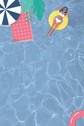 Bể bơi cô gái mùa hè tươi mát Tươi Mùa hè Cô gái Bể Hè Cô Bơi Hình Nền