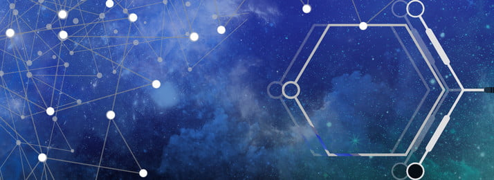 geometric science and technology dotted line starry sky, Rendering, Simple, Poster Background image