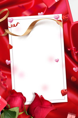 quà tặng lụa đỏ gradient hoa hồng lãng mạn cặp đôi cầu hôn quà tặng lụa Đỏ Độ dốc hoa , Hôn, Đám, Tặng Ảnh nền