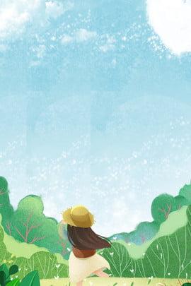 girl grass green plant , Sky, Cloud, Flower Background image