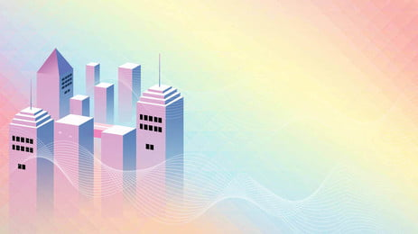 Gradient Fresh Poster City Tower, Color, Colour, Ad, Background image