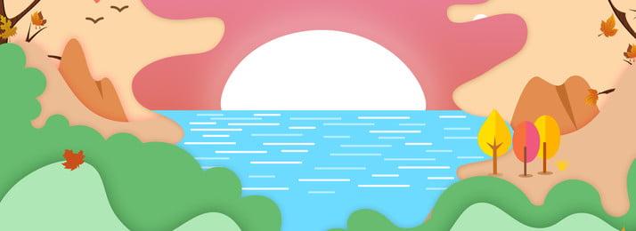 漸變幾何海報橫幅漸變, 幾何, 海邊, 漸變 背景圖片
