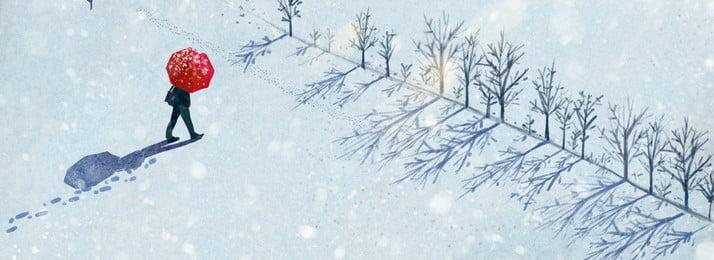 बड़े ठंडे सर्दियों में बर्फ में बर्फबारी कुत्ते के बैनर के माध्यम से चलना बड़ी ठंड है सर्दी हिमपात बर्फ, पास, खींचा, हुआ पृष्ठभूमि छवि
