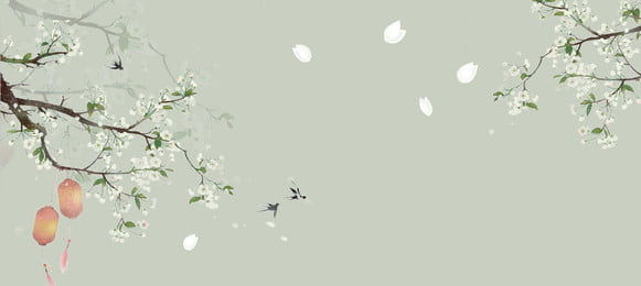 Green Classical Flowers Chinese Style, Banner, Green, Classical, Background image