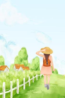 Green trail tươi minh họa phong cách nền tối giản Màu xanh Tươi Phim hoạt Họa Súc Gái Hình Nền