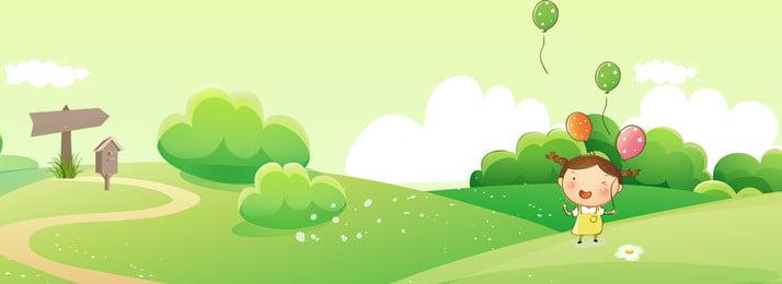 sáng tạo tổng hợp nền hoạt hình màu xanh lá cây màu xanh Đồng cỏ phim, Hình, Phim, Cỏ Ảnh nền