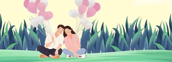 綠色植物愛情背景 綠色 植物 自然 環境 紋理 彩色 氣球 裝飾 坐著, 綠色植物愛情背景, 綠色, 植物 背景圖片