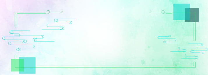 Зеленые минималистичные декоративные линии баннер плакат фон зеленый простой Акварельный ветер пресная украшение линия Декоративный элемент Элемент стиля элемент Элемент Фоновое изображение