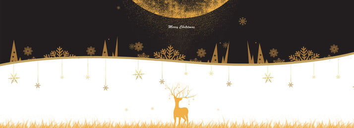 創意聖誕節摺紙風banner 賀卡 聖誕節 麋鹿 金色 雪花 簡約 金色聖誕 簡約 星星吊飾 創意 合成, 創意聖誕節摺紙風banner, 賀卡, 聖誕節 背景圖片